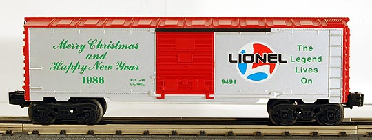 Lionel 6-9491 Christmas 1986 Boxcar
