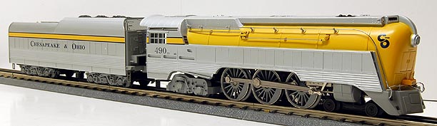 Lionel 6-18043 C&O Semi-Scale Streamline Hudson Locomotive and Tender with Command Control