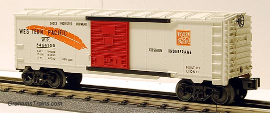 Lionel 6-39257 6464-100 Western Pacific Boxcar Boy\'s Set Re-issue