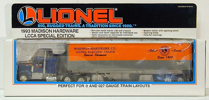 Lionel 6-52025 Madison Hardware Tractor Trailer LCCA Special Edition