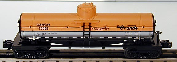MTH 30-7315 D&RG 1-Dome Tank Car