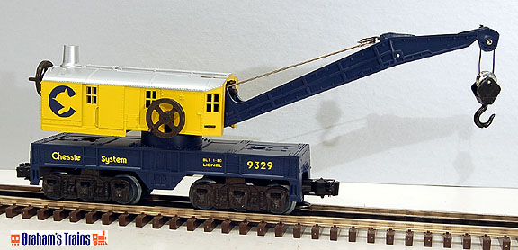 Lionel 6-9329 Chessie Crane Car