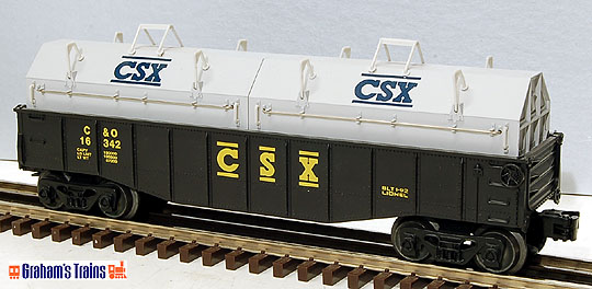 Lionel 6-16342 CSX Gondola with Coil Covers
