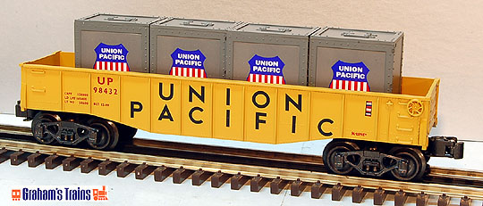 K-Line K-651-2111 Union Pacific Gondola with Crates