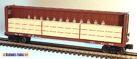 Lionel 6-16372 Southern I-Beam Flatcar with Wood Load