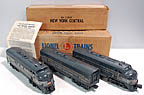 Lionel 2354 & 2344C New York Central F-3 ABA Diesel Engine Set - Postwar