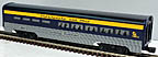 Lionel 6-19149 Chesapeake & Ohio Streamlined Aluminum Kitchen/Dining Car