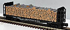 Atlas-O 6272-6 Chesapeake & Ohio Pulpwood Flatcar #81886