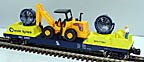 K-Line by Lionel 6-21704 Chesapeake & Ohio Double Searchlight Car with Construction Vehicle