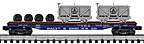 K-Line K691-1091 Baltimore & Ohio Flatcar with Two Ore Cars