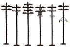 Lionel 6-37939 Scale Telephone Poles