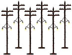 Lionel 6-37995 Lighted Scale Telephone Poles