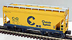 Lionel 6-17017 Chessie C&O ACF 2-Bay Hopper Std. O Scale