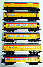 Lionel 6-9581 thru 6-9586 Chessie Steam Special 6-Car Madison Passenger Set