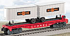Lionel 6-39463 #6430 Flatcar with Cooper-Jarrett Trailers Postwar Celebration Series