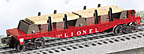 Lionel 6-39471 #6264 Flatcar with Wood Load Postwar Celebration Series