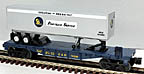 Lionel 6-16398 Chesapeake & Ohio Flatcar with Trailer