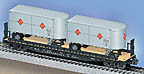 Lionel 6-17585 Chesapeake & Ohio PS-4 Flatcar with Trailers Std. O