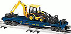Lionel 6-29442 CSX Flatcar with Backhoe