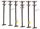 MTH 30-1088 6-Piece Telephone Pole Set