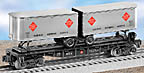 Lionel 6-26366 REA Flatcar with Trailers