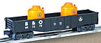 Lionel 6-26042 Baltimore & Ohio Gondola with Canisters