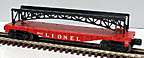 Lionel 6825 Flatcar with Black Arch Trestle Bridge - Postwar