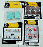 K-Line Accessory Lot: K-014102, 6-22600, 6-22305, 6-22580 Flashing Barricades, Spool Load, Transformers (2), Bollards & Chains Pack