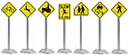 K-Line 6-21721 Roadway Sign Set Warning Pack 12-Signs