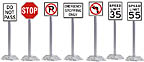 K-Line 6-21730 Roadway Sign Set Regulatory Pack 12-Signs