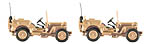 K-Line K-94474 Operation Iraqi Freedom Willy's Jeep 2-Pack