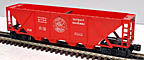 Lionel 6736 Detroit & Mackinac Open Quad Hopper - Postwar