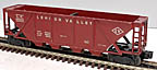 Lionel 6436-25 Lehigh Valley Quad Hopper - Postwar