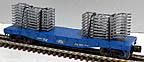 Lionel 6-17533 Ford Trailer Train Flatcar with Auto Frames Std. O