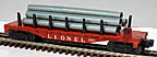 Lionel 6511 Flatcar with Pipes - Postwar