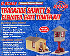 Atlas-O 6903 Trackside Shanty & Elevated Gate Tower Kit, O-Scale