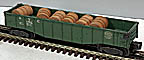Lionel 6462 New York Central Gondola Green - Postwar