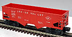 Lionel 6476 Lehigh Valley Hopper Red - Postwar