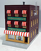 MTH 30-90194 Cadwallader's Welsh Tavern 3-Story Building w/Fire Escape & Blinking Sign