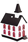 MTH 30-9057 Country Church White W/Red Windows