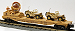 K-Line K691-8032 Operation Iraqi Freedom Flatcar with Rotating Searchlight & 2-Jeeps