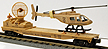K-Line K691-8030 Operation Iraqi Freedom Flatcar with Rotating Radar Dish & Helicopter