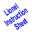 Lionel 1500 Train Outfit Instruction Sheet 4-Pgs.