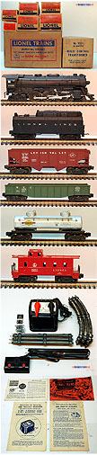 Lionel 1503WS Steam Freight Complete Outfit - Postwar 1953