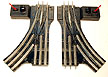 Lionel 042 Manual Control O-Gauge Switches Pair with Box