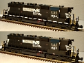 Atlas-O 1512-1 & 1562-1 Norfolk Southern SD-40 Powered & Non-Powered Engines, with TMCC #1594 & #1597