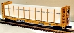 MTH Premier 20-98662 TTX Bulkhead Flatcar with Covered Wood Load #804125
