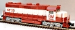 Atlas-O 1109-2 EMD Demonstrator GP-35 Low Nose Diesel Engine with TMCC, Cab #5654