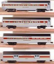 Lionel 6-19131, 6-19132, 6-19133, 6-19134 Lackawanna 4-Car Aluminum Passenger Car Set 6-19130