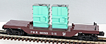 K-Line K-665501 Pennsylvania PRR Depressed Center Flatcar with 2-Transformers